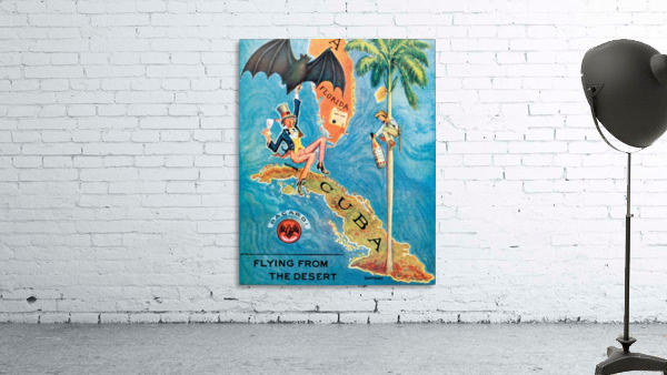 Visit Cupa vintage travel poster