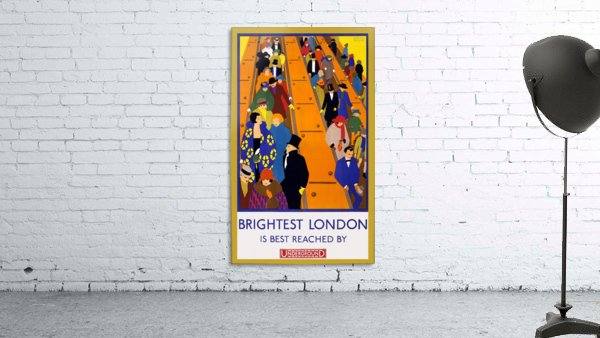 Brightest London travel poster