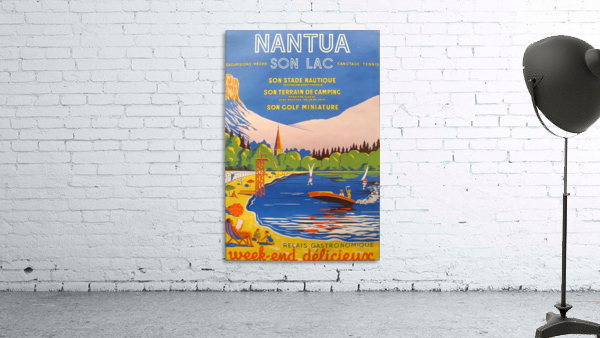 Vintage French Travel Poster for Nantua