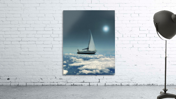 Navigating Trough Clouds Fantasy Collage Photo