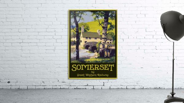 Great Western Railway Somerset travel poster