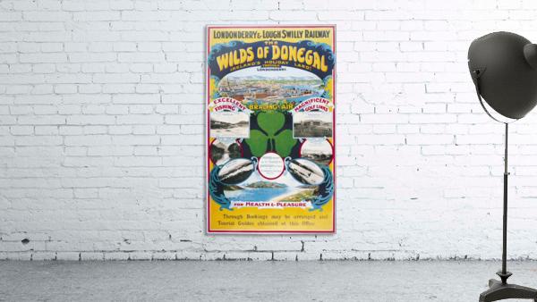 Irish Travel Art Poster, Wilds of Donegal, Ireland