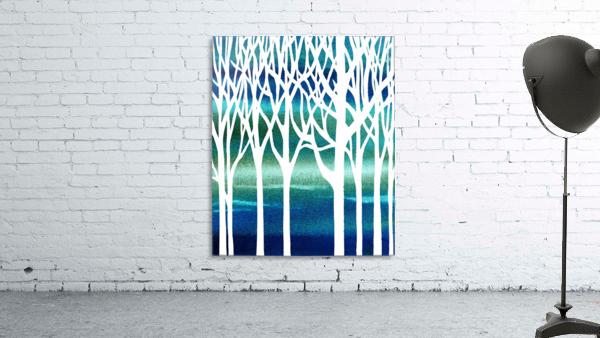 Blue Teal Forest