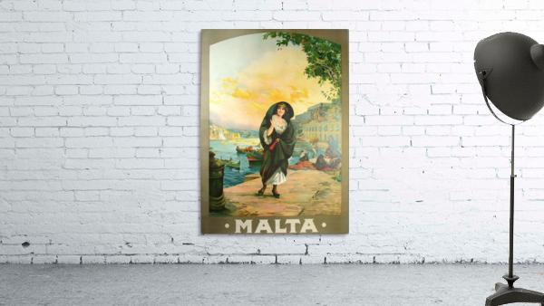 Original travel poster for Malta in 1900