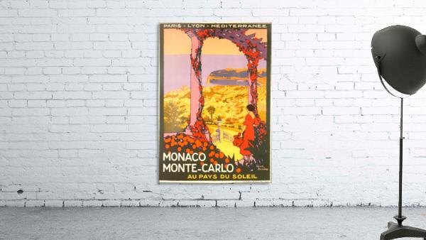 Monaco Monte Carlo 1920 vintage poster