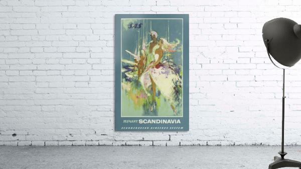 SAS Pleasant Scandinavia Airline Poster