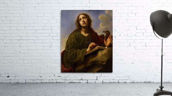 Saint John the Evangelist Writing the Book of Revelation