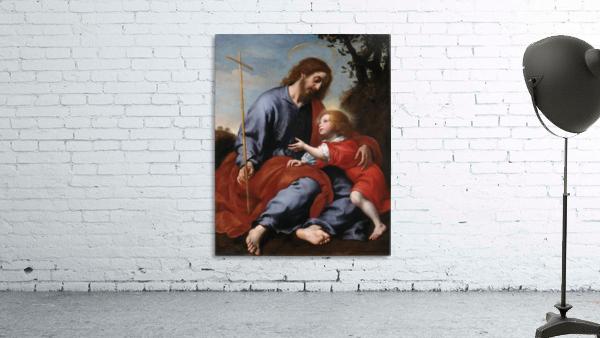 San Giuseppe mostra la croce a Gesu Bambino
