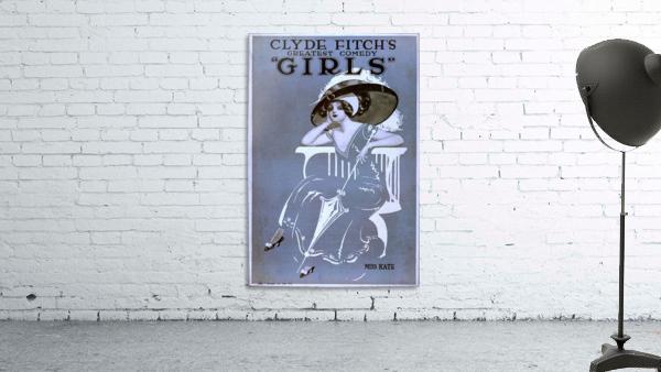 Girls Broadway Show Miss Kate Vintage Poster 1906