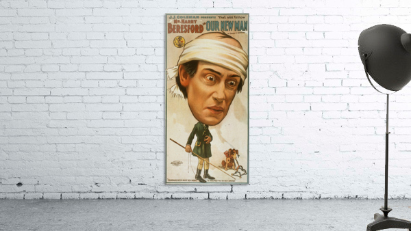 Vintage Play Poster Our new man