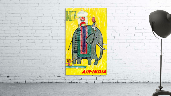 Air-India travel poster