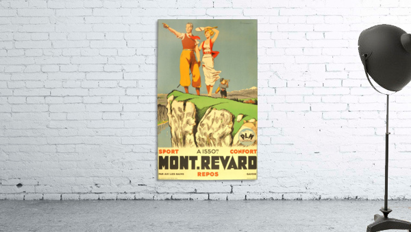 Original vintage poster from 1930 for Mont Revard in Savoie, France