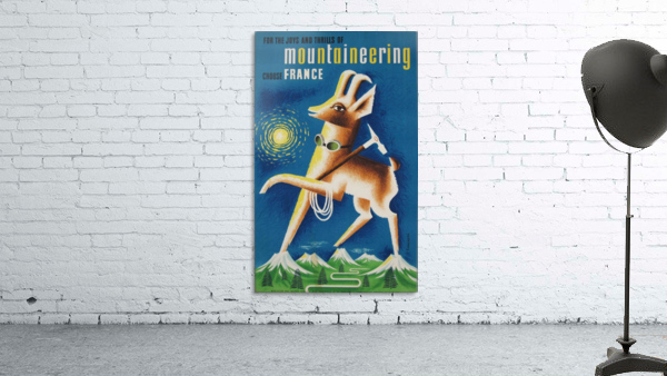 Mountaineering Choose France original vintage poster