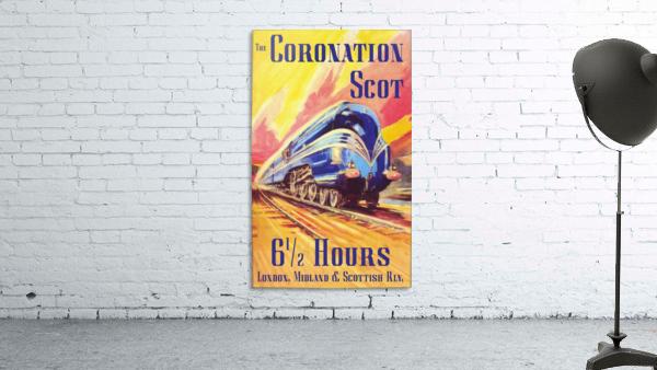 The Coronation Scot travel poster