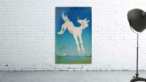 Original vintage poster Vacances en Suisse