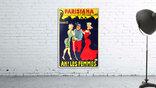 Parisiana Ah Les Femmes poster printed circa 1895