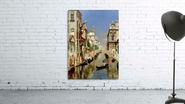 A Venetian Canal with the Scuola Grande di San Marco and Campo San Giovanni e Paolo