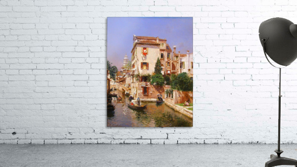 Gondoliers On A Venetian Canal