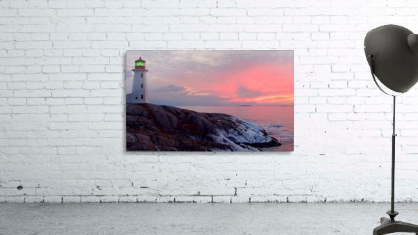 Peggys Cove Winter Sunset