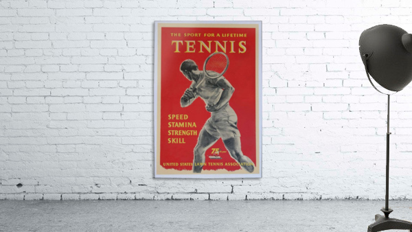 United States Lawn Vintage Tennis Poster in 1956
