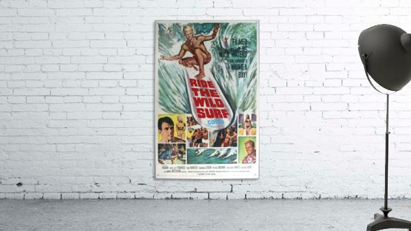 Original Vintage Surfing Movie Poster - Ride The Wild Surf