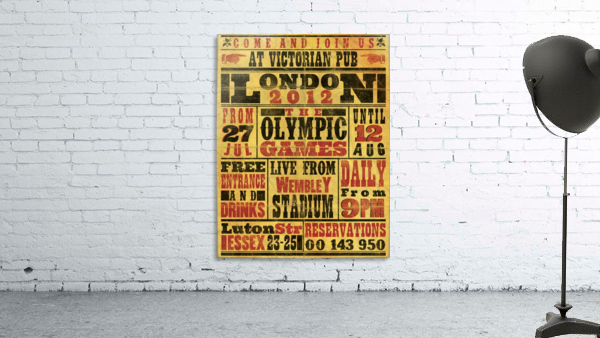 Vintage Olympics poster