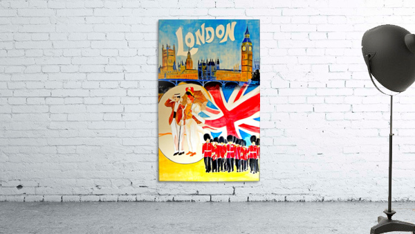 Vintage travel poster for London, England