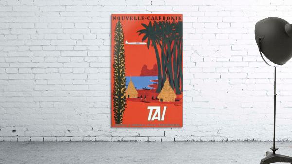Nouvelle Caledonie TAI vintage travel poster