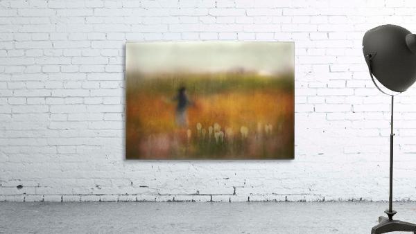 A Girl and Bear grass