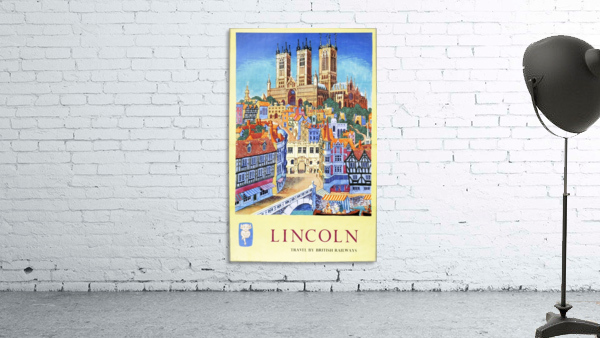 Lincoln vintage travel poster for British Railways