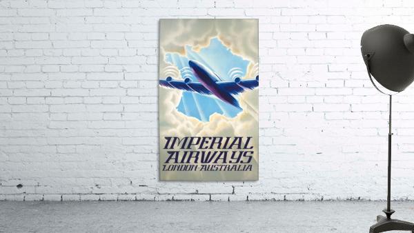Imperial Airways London - Australia vintage travel poster
