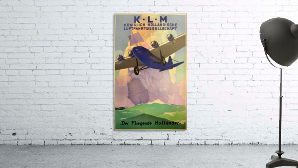 Original Vintage 1933 KLM Travel Advertising Poster