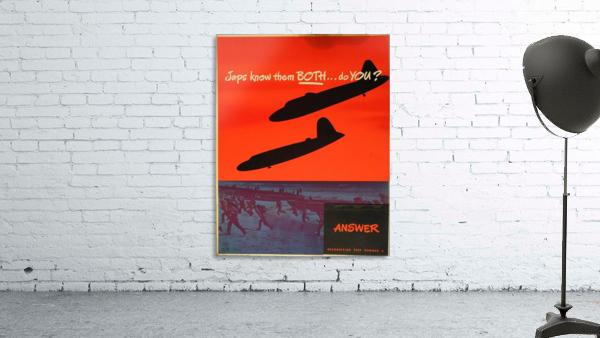 Recognition test vintage poster