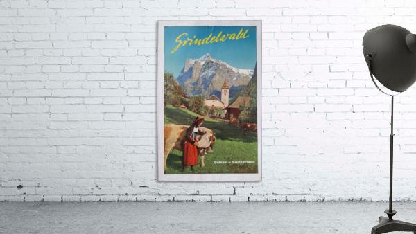 1960 Grindelwald Switzerland original vintage poster