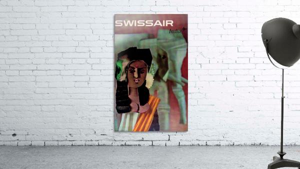 Swiss Air India Travel Art Poster
