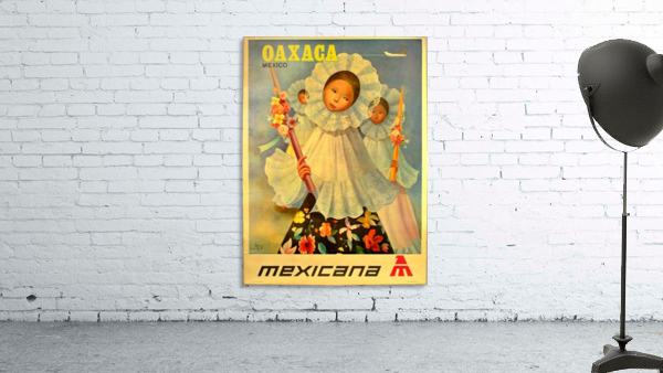 Oaxaca Mexico 1969 travel poster for Mexicana Airlines