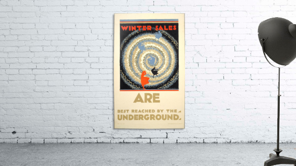 Winter sales are best reached by the underground
