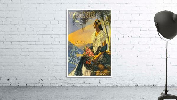 Mexico Veracruz vintage travel poster