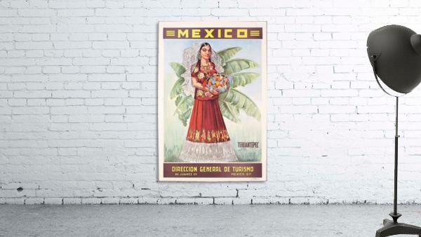 Mexico Tehuantepec vintage poster