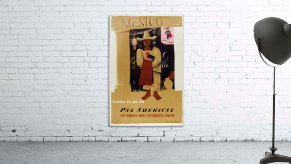 Mexico Pan American Poster