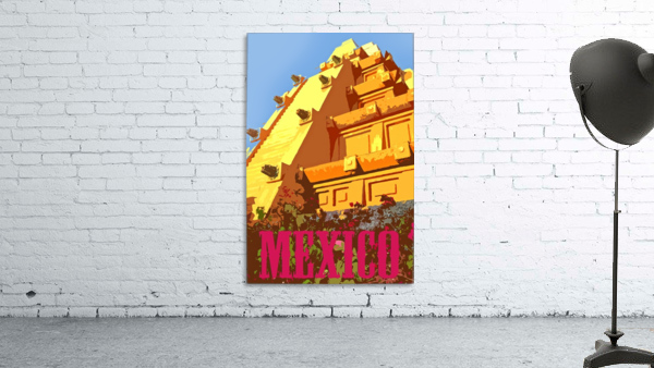 Mexico City vintage travel poster
