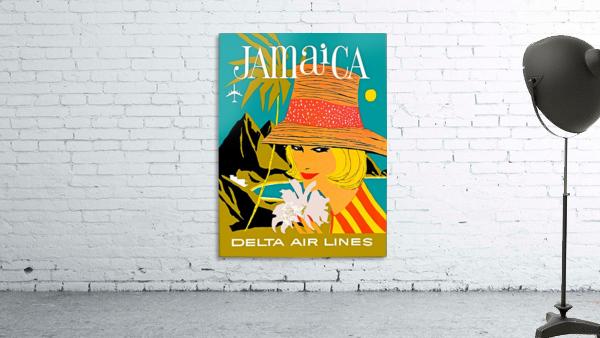 Vintage Jamaica Delta Airlines Poster