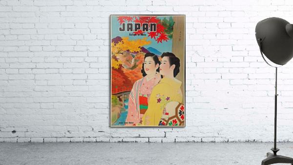 Japan Autumn in Nikko travel poster