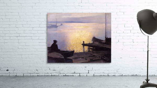 Fisherman in the sunset