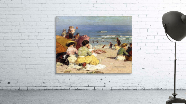 People relaxing by the beach