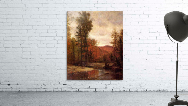 Adirondack Woodland with Two Deer 1880-1889