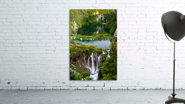 Waterfall Paradise Plitvice Lakes in Croatia