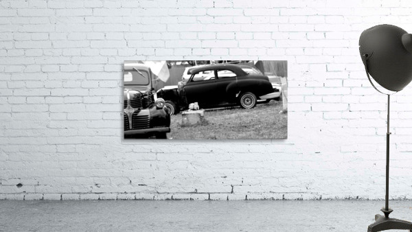 Black and White Vintage Cars