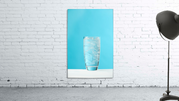 Very Full Glass Of Water With Ice