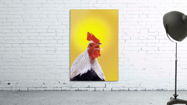 Crowing rooster;British columbia canada